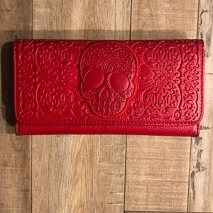 LOUNGEFLY Red Skull Wallet